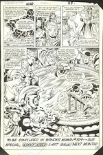 1985 WONDER WOMAN #328 PAGE 23 COMIC ORIGINAL ART BY DON HECK DC COMICS