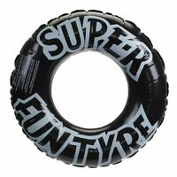 """36""""/91cm Inflatable Black Tyre Rubber Swimming Ring Travel Holiday Lounge Pool"""