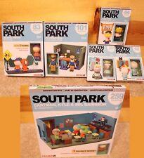 Complete SOUTH PARK Set McFarlane Construction Classroom Principal Bus Lego Comp