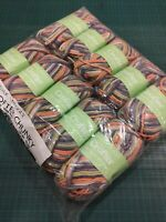 10 x Rory 508 50g balls Sirdar snuggly Baby Crofter Chunky F220 mixed colours