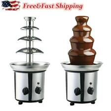 4 Tiers Commercial Stainless Steel Hot New Luxury Chocolate Fondue Fountain USA