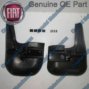 Fits Fiat Ducato Peugeot Boxer Citroen Relay Front Mud Flap Guards Kit 06-On OE