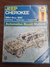 Jeep Cherokee 1984 - 1997 Repair Manual Wagoneer Comanche Haynes 50010 (1553)