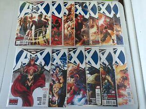 Avengers vs. X-Men #0 1-12 Marvel 2012 Complete Full Set Run Lot VF/NM