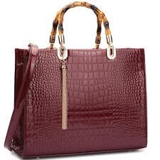 New 2017 Womens Handbag Faux Leather Satchel Tote Bags Shoulder Bag Medium Purse