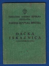 Democratic Federal Yugoslavia, People's Republic of Croatia ID CARD 1946 !