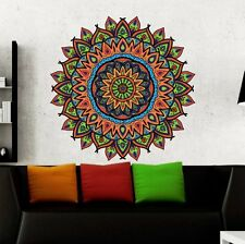 Mandala Wall Decals Full Color Ornament Yoga Decor Sticker Boho Art Home DD109