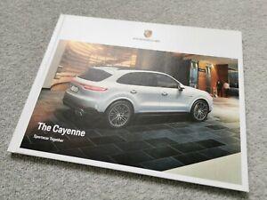Porsche Cayenne UK Market Hardback Brochure May 2018 E-Hybrid/S/Turbo Models