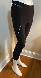 Castelli Women's Black Cycling Knicker Pants Padded Micro Fleece Lining - XL