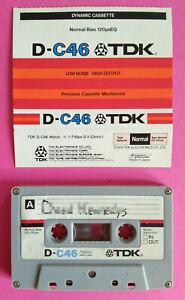 MC Musicassetta TDK D-C46 C 46 Vintage Compact Cassette Audio Tape USATA no Basf