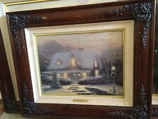"Thomas Kinkade ""CHRISTMAS EVE"" #87/200 AP Framed Canvas Lithograph 16"" X 12"""