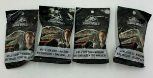 4 x Jurassic World Surprise Bags Mini Action Dinos Collectable Blind Bag BN