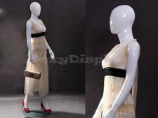Female Fiberglass Glossy White Mannequin Egg Head #Mz-Zara6Eg