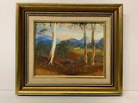 Original oil Painting Signed Framed Listed Jim Crofts Australia Landscape 1981