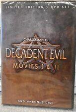 CHARLES BANDS DECADENT EVIL MOVIES I & II  (DVD 2007) RARE+ BONUS DISC BRAND NEW