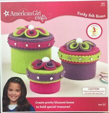 American Girl Crafts Funky Felt Box Kit NEW