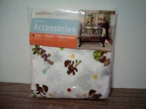New Lambs Ivy Curly Tails Monkey Baby Crib Sheet
