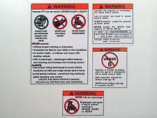 Honda ATC 70 Stickers Warning Advice Health Safety Vintage Trike Sticker