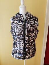 CALVIN KLEIN Leopard Puffer Vest Women's Hoodie Lg