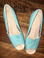 Toms Turquiose Wedge Size 9