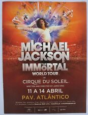 Michael Jackson The Immortal World Tour Cirque du Soleil print ad 2012 rare