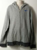 BOYS NIKE AGE 13-15 YEARS GREY HOODED ZIP UP SWEATSHIRT TRACKSUIT TOP JACKET