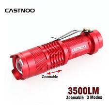 Castnoo Bright Light 8000 LM CREE Q5 Mini LED Camping Flashlight Lantern Red GU