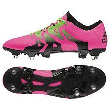 Adidas x 15.1 sg sintética botas de fútbol rosa/verde/negro [s74629]