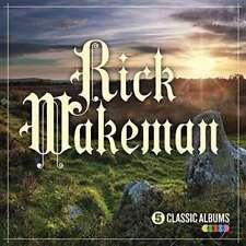 Rick Wakeman 5 Classic Albums CD BOXSET 6 Wives Journey Arthur White Rock 1