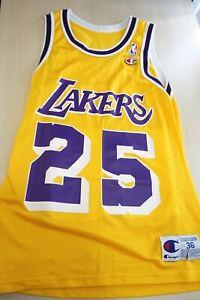 NBA Jersey Los Angeles Lakers EDDIE JONES Champion Sz 36 Vtg #25