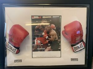 🔥 A1 Officially Certified Mike Tyson & Frank Bruno Signed Boxing Gloves 🥊 🔥