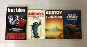4x Isaac Asimov Books Foundation Nine Tomorrows Frontiers Lecherous Limericks