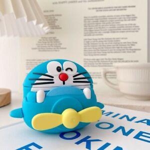 Doraemon Airpods Pro Protective Case Cover 2 Parts Rotating Petals Silicone