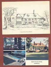 Alfriston  Dean's Place Hotel, 1 colour postcard + artist's sketch card   QT1077