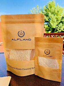 100% Natural Loofah Clean Sponge All-Purpose Non-Sticky Cleaning Package of 4