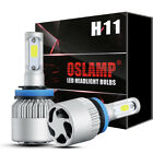 PAIR OSLAMP H11 147000LM LED Headlight Kits Bulbs H9 H8 6000K VS HID 35W 55W Fog