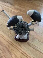 """Eagle Family Statue - Danbury Mint """"Proud Guardians�"""