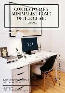 Black Contemporary Minimalist Home Office Chair for Sale