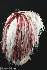 RED AND WHITE TINSEL WIG - ENGLAND - ST GEORGES DAY