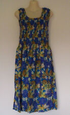 LADIES SUNDRENCHED SINGLET SMOCK DRESS TROPICANO DESIGN 100% RAYON FIT SIZE 8-18