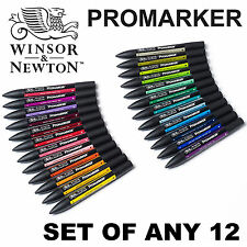 Winsor & Newton ProMarker Twin Tip Graphic Art Marker Pen | SET OF ANY 12