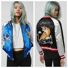 Topshop Bomber Coats, Jackets & Waistcoats Satin Outer Shell for Women