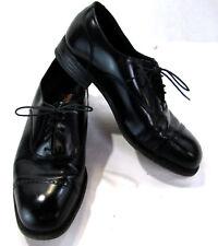 Florsheim Mens Black Leather Oxford's Size 9 Toe Cap, Lace Up, #17067-01
