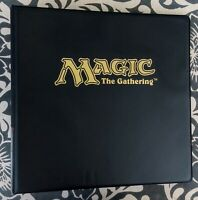 ULTRA PRO MAGIC THE GATHERING GOLD STAMPED 3-RING MTG CARD STORAGE ALBUM NEW