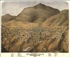 A4 Reprint of American Cities Towns States Map Virginia City Nevada