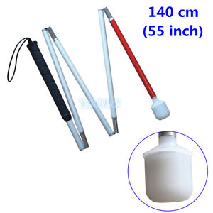Aluminum Mobility Folding Cane for the Blind  140 cm (55 inch)