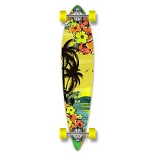 Yocaher Pintail Tropical Day Longboard Complete