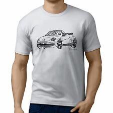 JL illustration for a Volkswagen Beetle Cabriolet Motorcar fan T-shirt