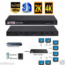 1080P 8 Output 1 Input 1X8 HDMI Splitter Amplifier 8 Way Switch Box For HDTV PS3