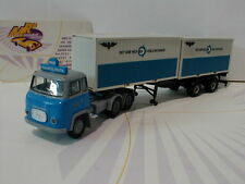 "Brekina 85186 - Scania LBS 76 Container Sattelzug "" NSB "" in blau-grau 1:87"